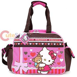 fb1abfabdd5b Sanrio Hello Kitty Duffle Bag Travel Gym Large Overnight Bag - Super ...