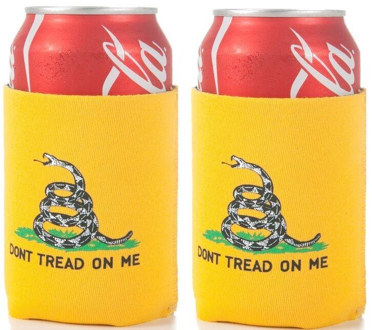 US GADSDEN KOOZIE DON/'T TREAD ON ME Rattlesnake Snake Beer Soda Can Wrap Cooler