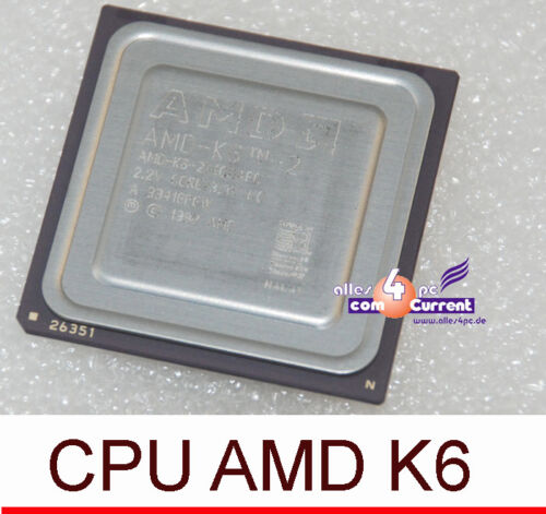 Processor CPU K6-2 350 Mmx Socket 7 Works Also Silent with Passive Coolers