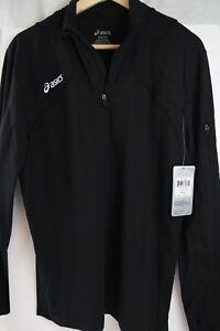 Black-Jacket-ASICS-Women-039-s-SMALL-QUALITY-Discounted-Zippered-NEW-Suera-SM-Mujer
