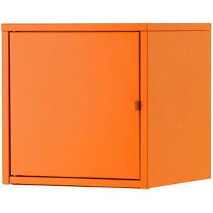ikea lixhult schrank aus metall 35x35cm wandschrank h ngeschrank orange ebay. Black Bedroom Furniture Sets. Home Design Ideas