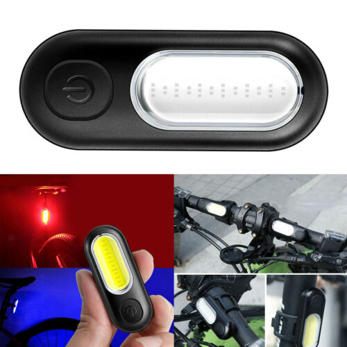 Adjustable Bright Bike Light COB Rear Bike Taillight USB Rechargeable Bicycle