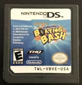 Spongebob's Boating Bash Nintendo DS Good Condition