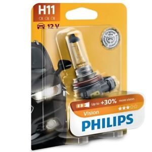 LongLife EcoVision Headlight Light Bulb x1 H7 12V 55W PX26d Halogen By Philips