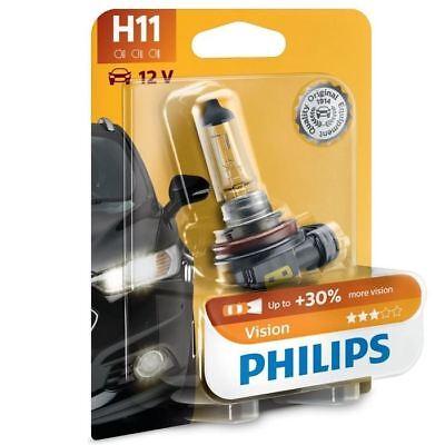 PHILIPS H11 car bulb Vision 12362PRC1 12V 55W  PGJ19-2 30/% light box of 1