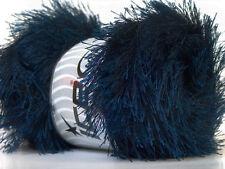 Large 100 gram Navy Blue Eyelash Yarn Ice Navy Fun Fur 164 Yards 22735