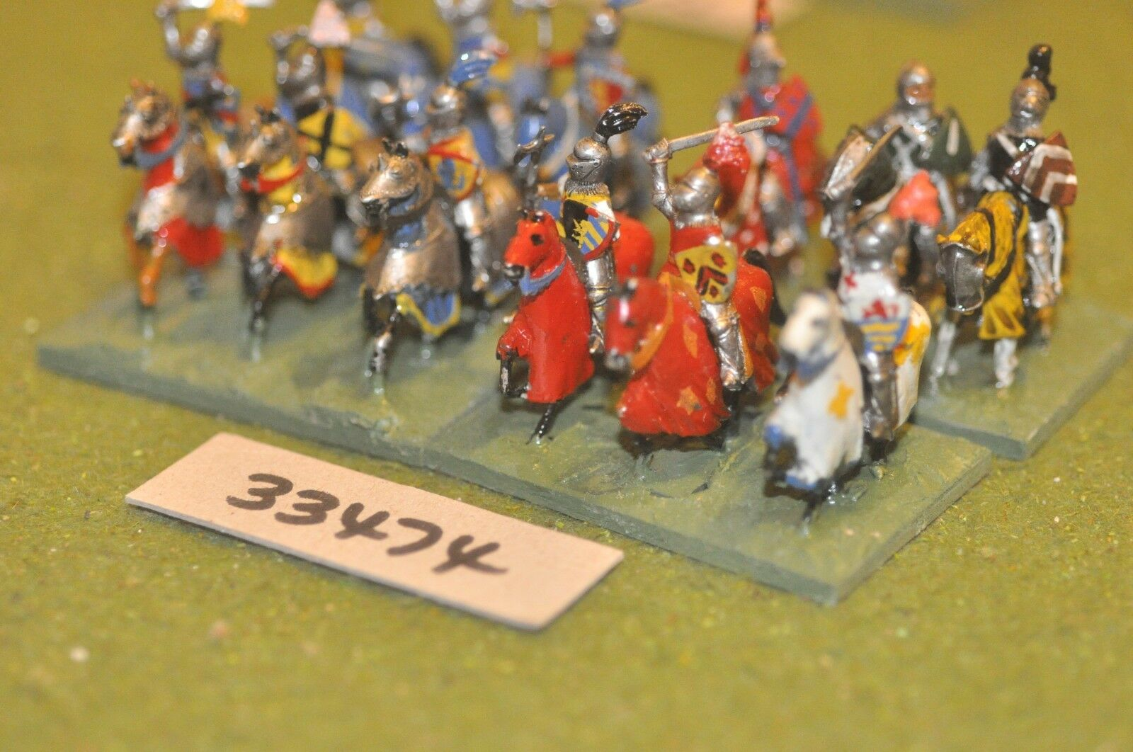 25mm medieval   english - men at arms 12 figures - cav (33474)