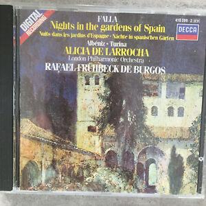DE FALLA: Nights in the gardens - de Larrocha/de Burgos (CD Decca 410 289-2/NM)