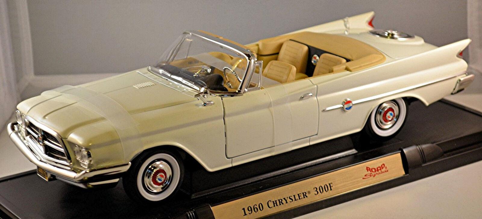CHRYSLER 300 F CABRIOLET serie 1960 pc3-300 BIANCO bianca 1 18 Yat Ming
