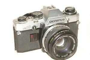 Olympus-OM10-camera-fitted-with-Olympus-Zuiko-f1-8-50mm-lens