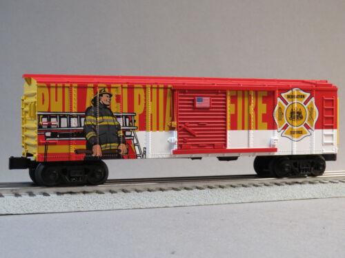 MTH RAIL KING PHILADELPHIA FIRE DEPARTMENT BOXCAR O GAUGE train car 30-74911 NEW