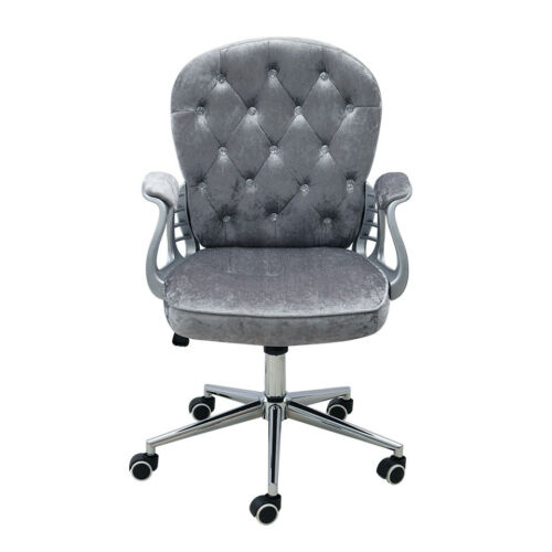 Button Decorated Office Chair Executive Computer Chair Lift Swivel Moving Seat