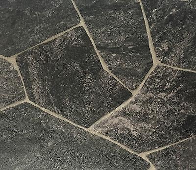 3m oder 4m Breite Bruchstein Optik CV Vinylboden 12,99€ m² PVC Bodenbelag 2m