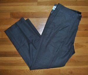 NWT-Mens-Perry-Ellis-Charcoal-Gray-Dress-Pants-Slacks-W-36-L-29