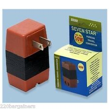 50 Watts Voltage Converter 110 to 220 Volt Step Up 50w max Travel Adapter