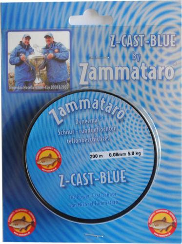 Zammataro Z-Cast bluee 0,10 mm Angelschnur(100m-) Feeder Alster Weser,Kanal