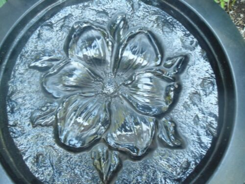 """Flower stepping stone mold plaster concrete casting mould 12/"""" x 1/"""" thick"""