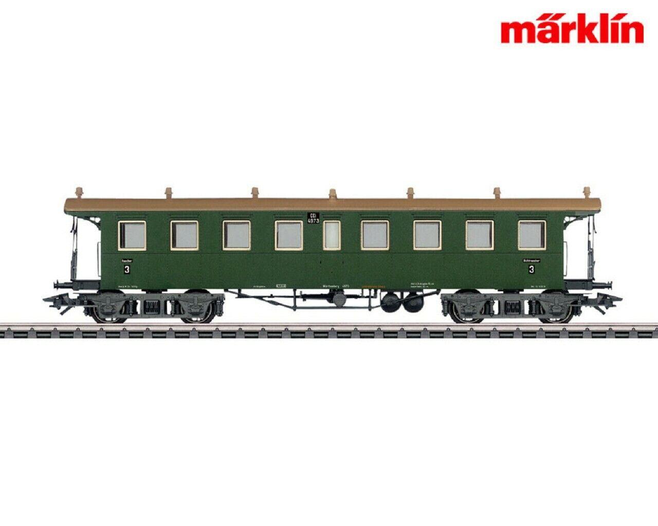 Märklin 42132 Sitzwagen 3.Klasse K.W.St.E.  NEU in OVP  | Exzellente Verarbeitung