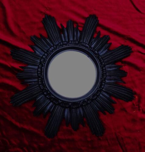 Baroque antique miroir mural soleil argent 42x42 cm environ ronde repro miroir sun 11