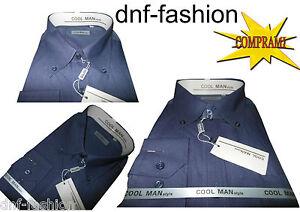 Camicia-classica-uomo-Cool-Man-manica-lunga-collo-Button-down-art-063