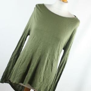 Atmosphere-Womens-Size-12-Green-Plain-Basic-Tee