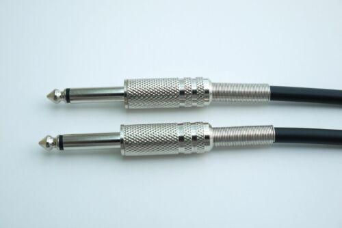 """Van Damme Pro Black Instrument Lead 6.35mm 1//4/"""" Jack Mono Patch 1m 2m 3m 4m 5m"""