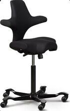 Joe Rogan Hag Capisco Adjustable Standing Desk Saddle Chair Black Excellent