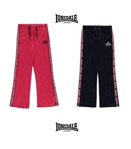 Pantalon-de-Survetement-pressions-cotes-fille-Lonsdale-du-7-au-13-ans