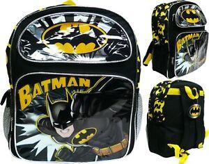"DC Comics Batman 12/"" Toddler School Backpack Boy/'s Book Bag"