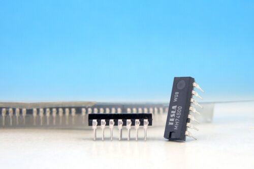 10x MH74S00 TESLA S SERIES QUAD 2-INPUT NAND GATE PDIP14 IC 74S00N