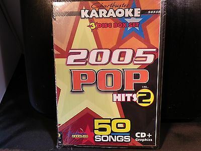 Obedient Chartbuster Cbg5055r 2005 Pop Hits Vol 2 50 Karaoke Songs On 3 Cdg's Karaoke Cdgs, Dvds & Media
