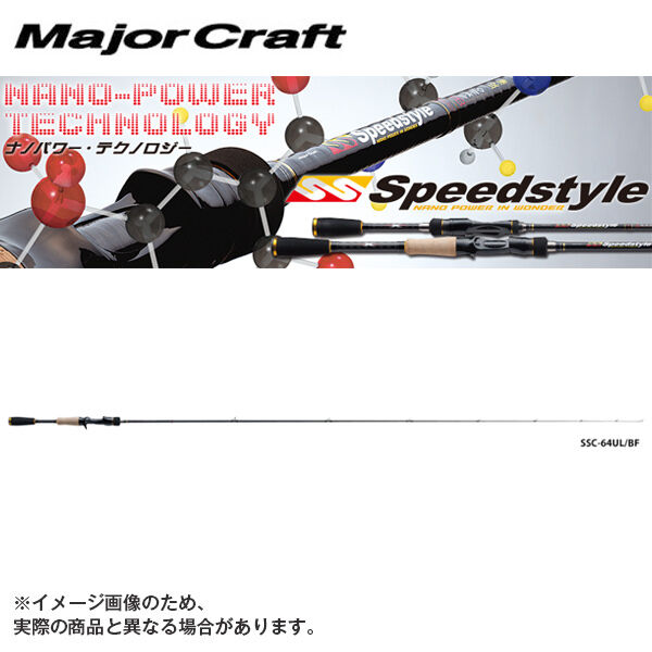 Major Craft SPEEDSTYLE 2 piece Bait Casting rod  SSC-682L BF NANO Power