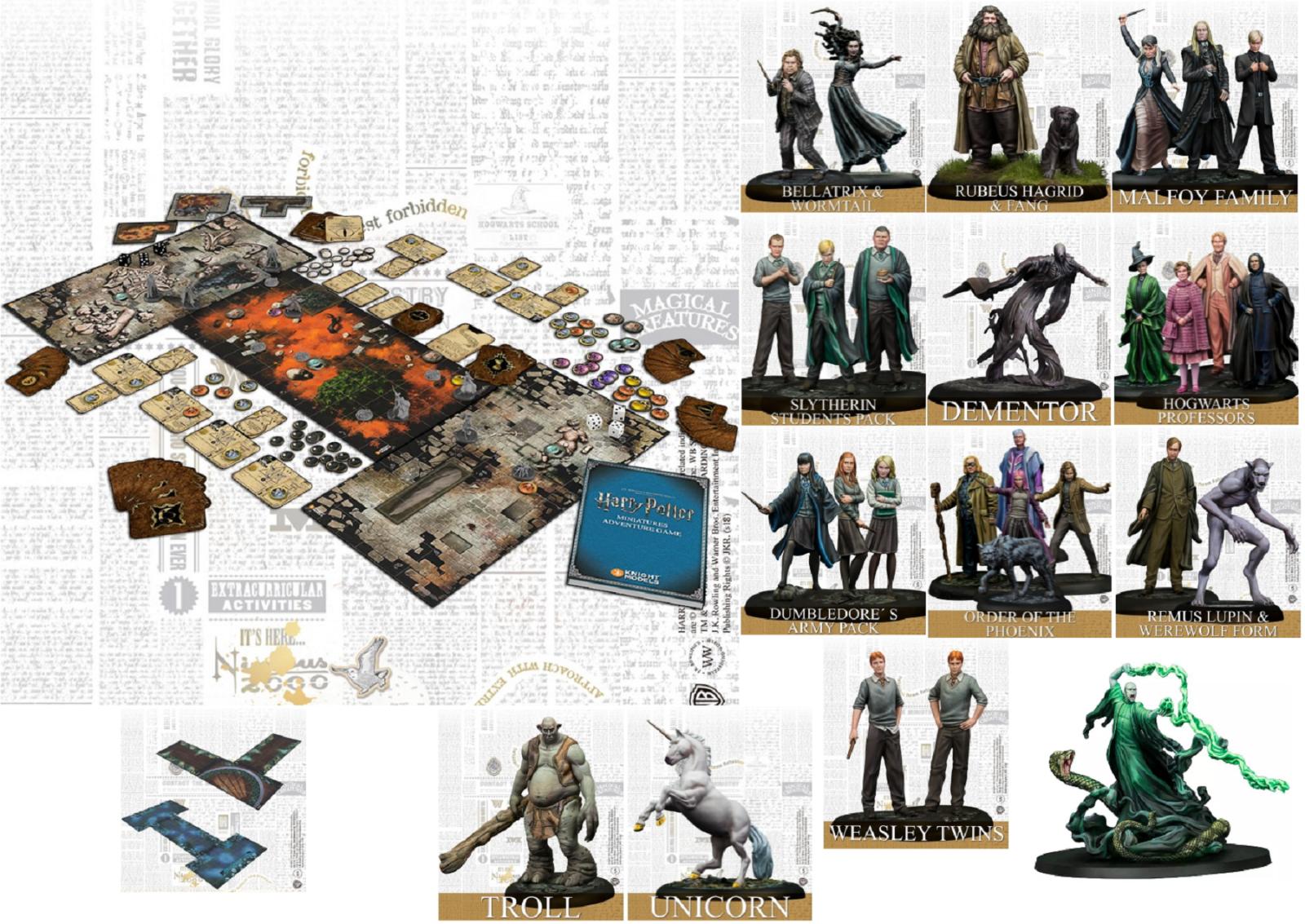 Officel Knight Models Harry Potter Miniatures Aventure Plateau Jeu de Société