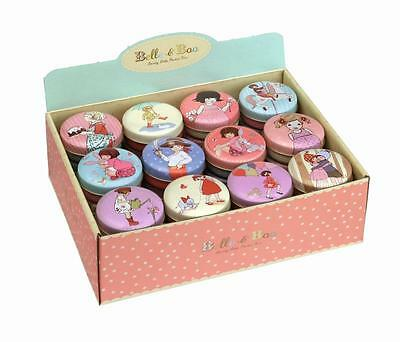 Belle & Boo - Small Round Trinket/Treat Tin - 12 Designs Available