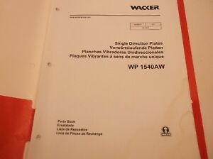 WP-1540AW-Wacker-Single-Direction-Plates-Parts-Book-JJ1