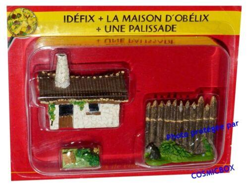 Le VILLAGE d/'ASTERIX n° 9 figurine maison d/'OBELIX niche d/'IDEFIX Atlas PLASTOY
