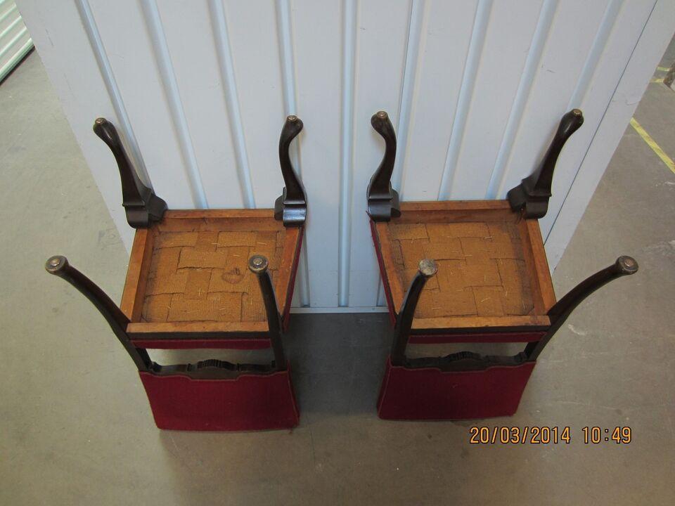 Spisebordsstol, Egetræ og stofbetræk