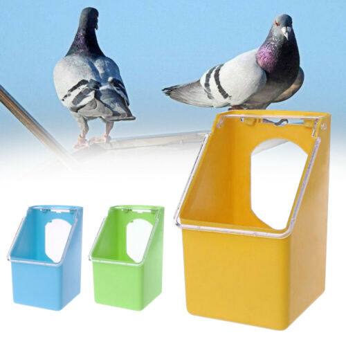 Bird Parrot Food Water Bowl Pigeons Pet Cage Cup Feeder Feeding Supplies 34