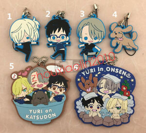 Anime-Yuri-on-Ice-Nikiforov-Victor-rubber-keychain-cosplay-Key-Charm-Pendant