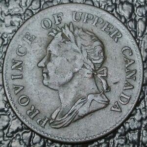 1832-PROVINCE-OF-UPPER-CANADA-HALFPENNY-TOKEN-BR-732-UC-14