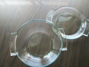 Vtg PYREX De Corning FRANCE Casserole Dish #454 w/matching lid just over 6 cups
