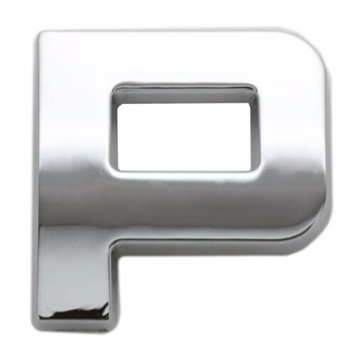 Chrome 3D Self Adhesive LETTER P Car Badge Emblem Auto Home Sign Sticker Decal