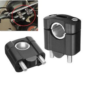 2Pz-CNC-Morsetto-Monte-Riser-Manubrio-Per-1-8-034-7-8-034-28mm-22mm-Manubrio-Moto-Nero