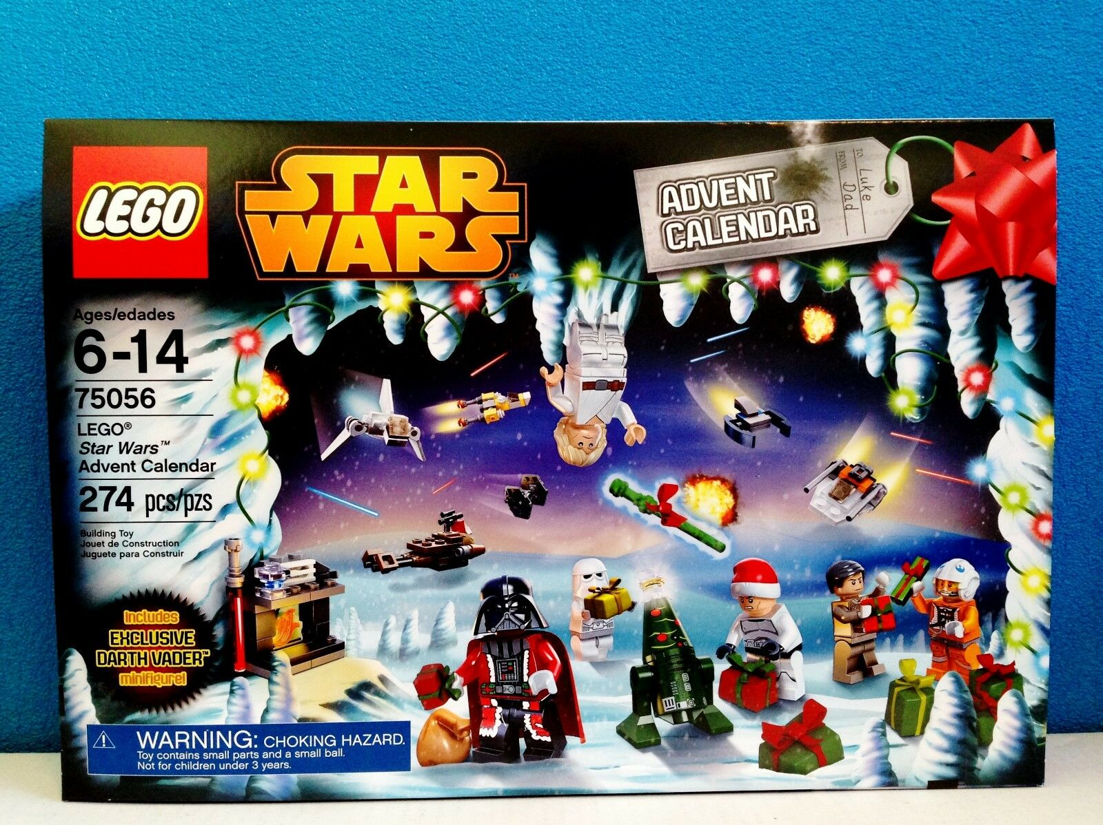 Lego star wars 2014 ADVENT CALENDAR 75056 Santa Darth Vader Claus Neuf Scellé