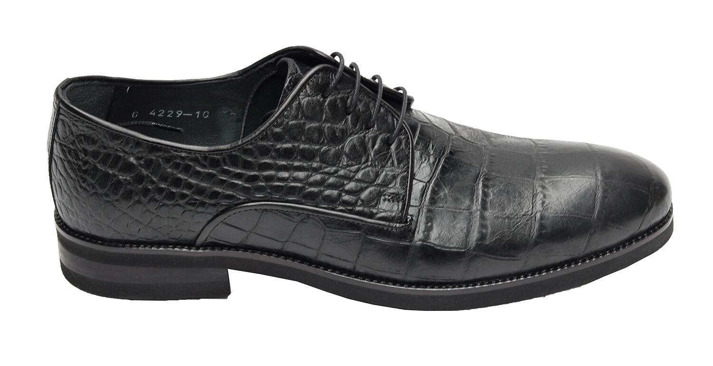 Billig gute Qualität Muga Herren Schuhe Kroko-Optik4229Gr.45 Schwarz