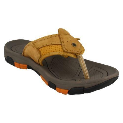 Herren Schwarz Honig Fiji Strand Sommer Slipper Sandalen Zehentrenner UK 7-12