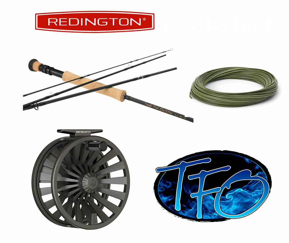 Temple Fork Pro Series II 4-Piece Fly Rod & rotington Behemoth Reel Combo 7 or 8