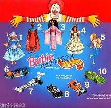 1996 McDonalds Barbies of the World MIP Complete Set & U3 - Girls, 3+