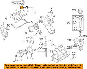 vw volkswagen oem 04 06 beetle engine parts valve cover seal