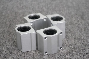 4X Linear Ball SCS16UU 16mm Bearing Pillow Block Linear Slides Unit for CNC